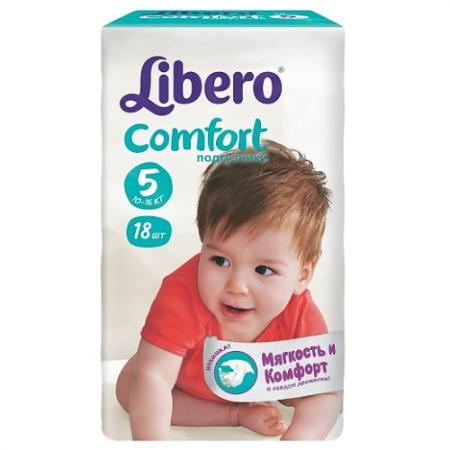 LIBERO Подгузники детские Комфорт макси плюс 10-16кг 18шт упаковка маленькая libero подгузники детские every day экстра лардж 11 25кг 16шт упаковка стандартная