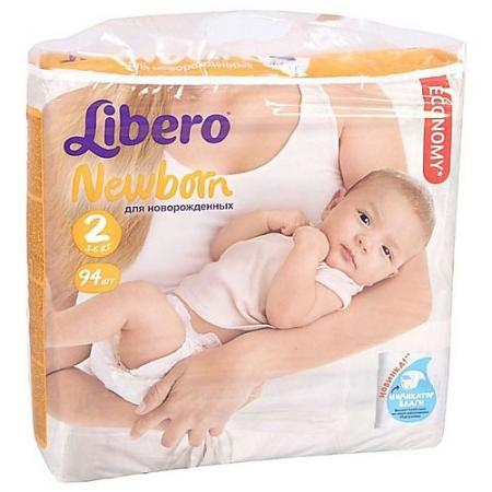 LIBERO Подгузники детские Ньюборн мини 3-6кг 94шт упаковка мега плюс libero подгузники детские every day миди 4 9кг 22шт упаковка стандартная