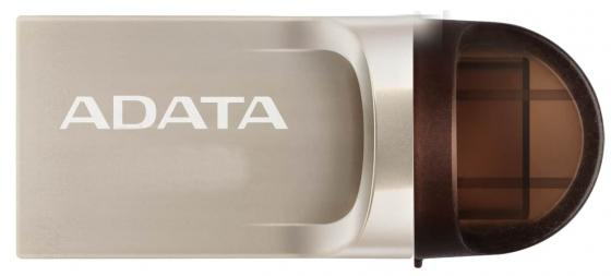 Флешка USB 32Gb A-Data DashDrive UC370 OTG AUC370-32G-RGD золотистый adata usb a data dashdrive uv128 32gb 64гб желтый