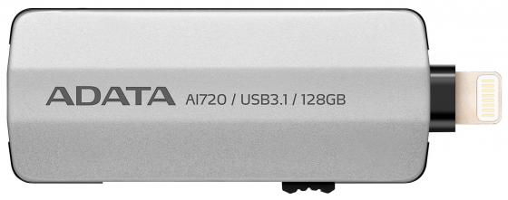 Флешка USB 128Gb A-Data i-Memory AI720 USB 3.1/Lightning AAI720-128G-CGY серый 50pcs micro usb 3 0 male to usb c usb 3 1 type c female extension data cable for macbook tablet 10cm by fedex
