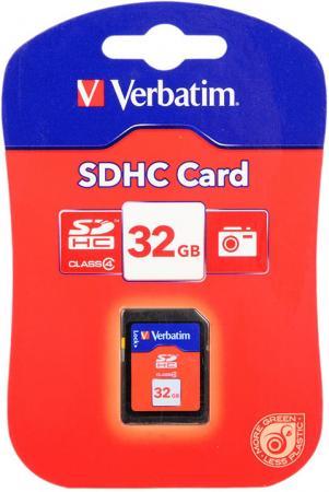 Карта памяти SDHC 32GB Class 4 Verbatim 44022