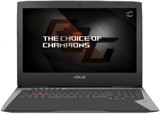 Ноутбук ASUS ROG G752VS(KBL)-GB562T 17.3 3840x2160 Intel Core i7-7700HQ 1 Tb 256 Gb 16Gb nVidia GeForce GTX 1070 8192 Мб серый Windows 10 90NB0D71-M08480 ноутбук asus rog g752vs core i7 7820hk 2 9ghz 64gb 2tb ssd2x256gb nv gtx1070 w10 home 90nb0d71 m07090