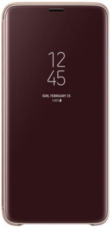 Чехол-книжка Samsung ZG965CF для Galaxy S9+ золотой чехол книжка боковой с окошком для samsung galaxy s4 mini i9190 i9192 boostar золотой