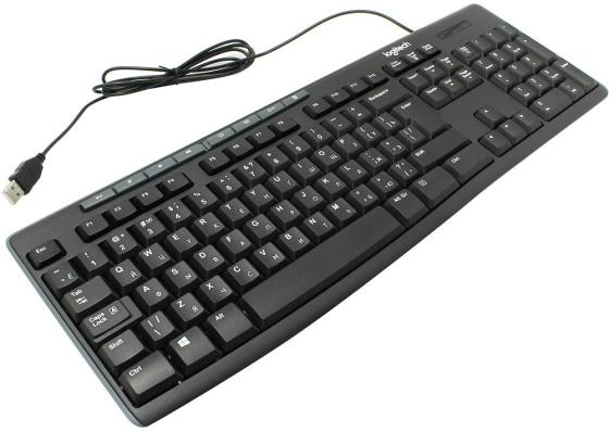 Клавиатура проводная Logitech Keyboard K200 For Business USB черный 920-008814 920 008868 клавиатура logitech rgb mechanical gaming keyboard g513 tactile switch