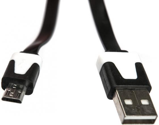 Кабель microUSB 1м Dialog HC-A5410 плоский черный