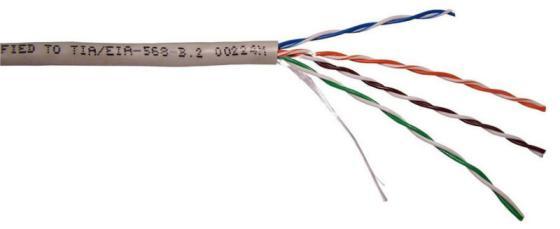 Кабель UTP indoor 4 пары категория 5e Lanmaster одножильный медь 305 м серый TWT-5EUTP-XS кабель skynet premium utp indoor 305 м серый