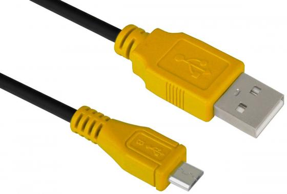 Фото - Кабель microUSB 1м Green Connection GCR-UA3MCB1-BB2S-1.0m круглый черный/желтый big green egg рукавица прихватка защитная силиконовая зелёная 117083 big green egg