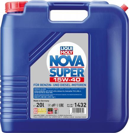 Минеральное моторное масло LiquiMoly Nova Super 15W40 20 л 1432
