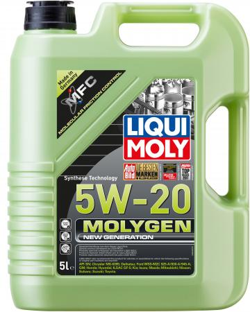 НС-синтетическое моторное масло LiquiMoly Molygen New Generation 5W20 5 л 8540 m12 1 5 wheel nuts 20 pcs set universal racing wheel lug nuts m12x1 5mm for honda toyota ford wheel nuts screw