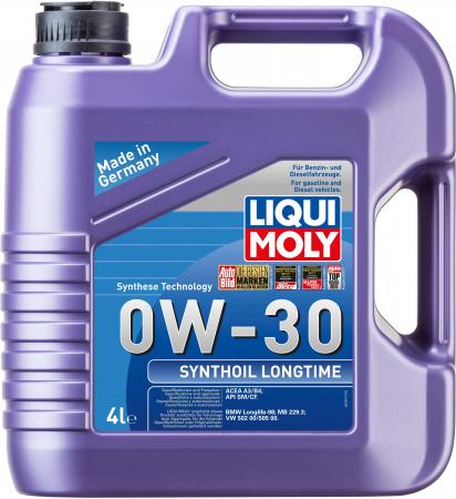 Cинтетическое моторное масло LiquiMoly Synthoil Longtime 0W30 4 л 7511