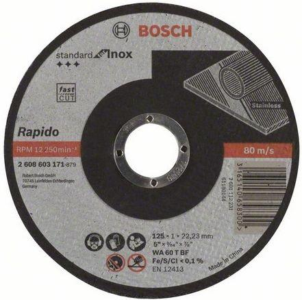 Отрезной круг Bosch Standard 125х1мм SfI прямой по нержавейке 2608603171 отрезной круг bosch 125х1мм по металлу 2608603396