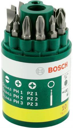 Набор бит Bosch 9шт + универсальный держатель 2607019454 держатель универсальный bosch 59 мм