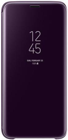 Чехол (флип-кейс) Samsung для Samsung Galaxy S9 Clear View Standing Cover фиолетовый (EF-ZG960CVEGRU) pink tree design pu кожа флип крышку кошелек карты держатель чехол для samsung c5