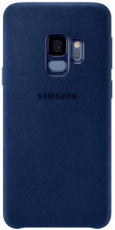 Чехол (клип-кейс) Samsung для Samsung Galaxy S9 Alcantara синий (EF-XG960ALEGRU)