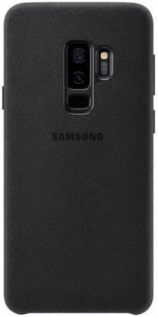 Чехол (клип-кейс) Samsung для Samsung Galaxy S9+ Alcantara черный (EF-XG965ABEGRU) чехол клип кейс samsung clear cover для samsung galaxy s8 черный [ef qg955cbegru]