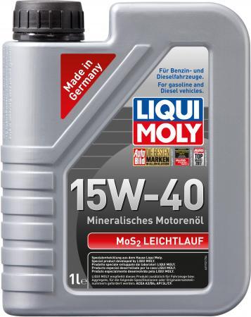 Минеральное моторное масло LiquiMoly MoS2 Leichtlauf 15W40 1 л 1932 растворитель ржавчины с дисульфидом молибдена 0 3л liqui moly mos2 rostloser 1986