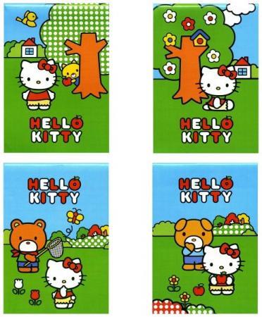 Блокнот ACTION! HELLO KITTY на скрепке, кл., мелован.обл., ф. А7, 40 л., 4 дизайна