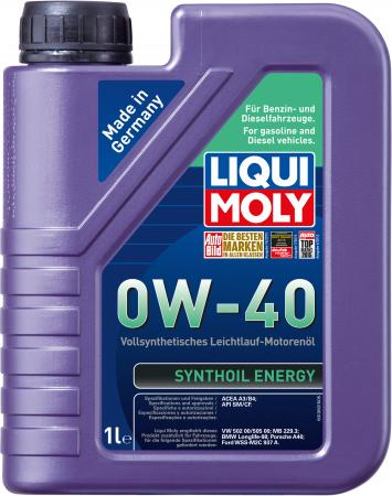 Cинтетическое моторное масло LiquiMoly Synthoil Energy 0W40 1 л 1922