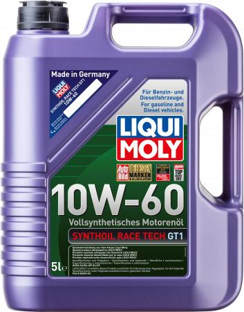 Cинтетическое моторное масло LiquiMoly Synthoil Race Tech GT1 10W60 5 л 1944