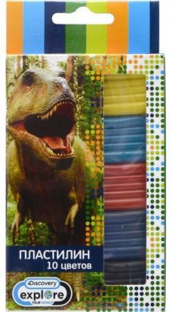 Пластилин DISCOVERY, 10 цв, 100 гр, карт. уп. с европодвесом цены онлайн