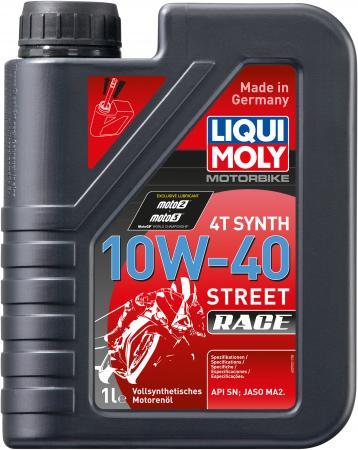 Cинтетическое моторное масло LiquiMoly Motorbike 4T Synth Street Race 10W40 1 л 20753