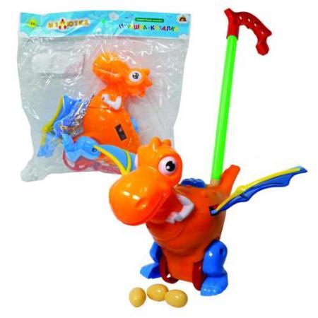 Каталка на палочке Тилибом Дракон пластик от 1 года на колесах разноцветный каталка на палочке s s toys вертолет желтый от 1 года пластик