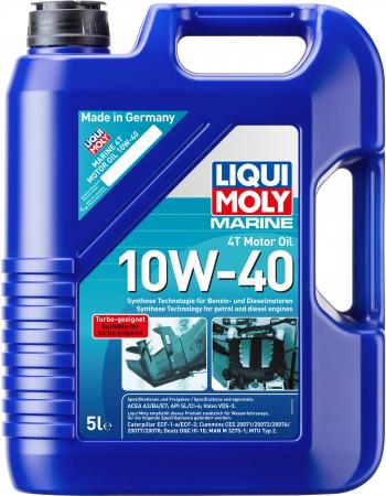 Купить со скидкой НС-синтетическое моторное масло LiquiMoly Marine 4T Motor Oil 10W40 5 л 25013
