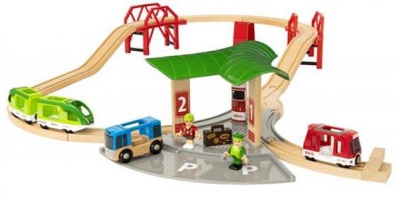 Набор Brio Автовокзал с 2 мостами и ж/д с 3-х лет погрузчик ж д brio с подъемником и фигуркой