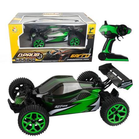 Машинка на радиоуправлении 1toy Машина  / зелёный пластик