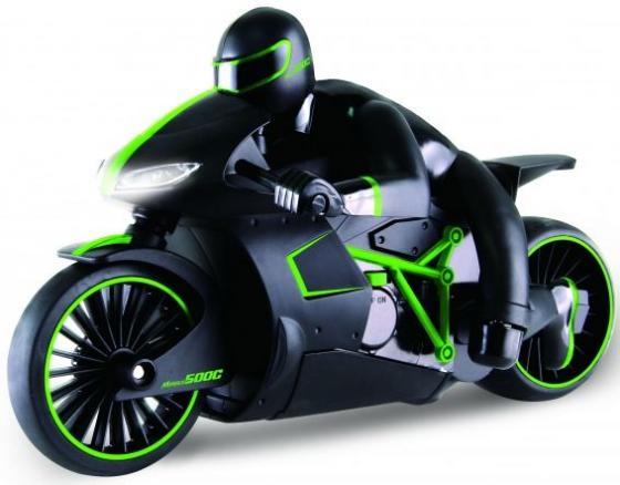 Мотоцикл на радиоуправлении 1toy Мотоцикл с гонщиком зелёный пластик hot wheels мотоцикл с гонщиком цвет черный зеленый