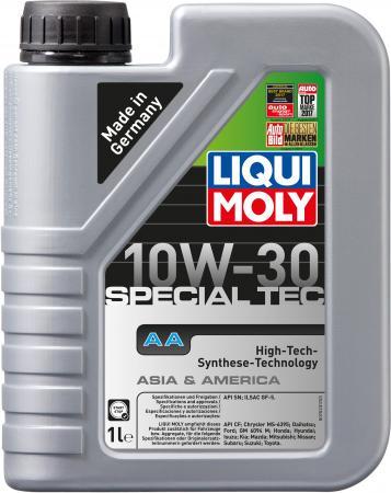 НС-синтетическое моторное масло LiquiMoly Special Tec AA 10W30 1 л 7523 моторное масло mannol 2 takt universal api tc минеральное 1 л