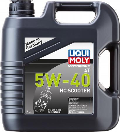 Купить со скидкой НС-синтетическое моторное масло LiquiMoly Motorbike 4T HC Scooter 5W40 4 л 20830