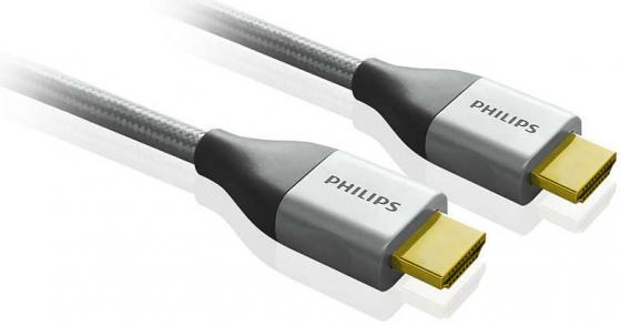 Кабель HDMI 1.8м Philips SWV3452S/10 круглый серый кабель hdmi 1 8м philips swv3452s 10 круглый серый