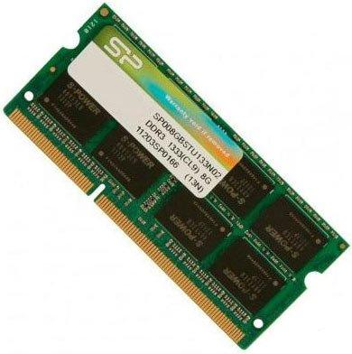 Оперативная память для ноутбуков SO-DDR3 8Gb PC10600 1333MHz Silicon Power SP008GBSTU133N02 10piece 100% new irf7832 f7832 synchronous mosfet for notebook processor power chipset