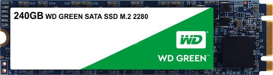 Твердотельный накопитель SSD M.2 240Gb Western Digital Green Read 540Mb/s Write 465Mb/s SATAIII WDS240G2G0B ssd твердотельный накопитель 2 5 1 6tb intel s3520 read 450mb s write 380mb s sataiii ssdsc2bb016t7