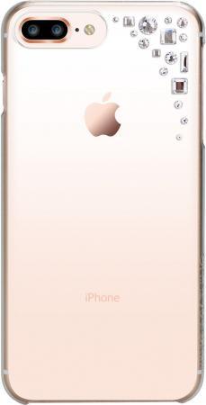 Накладка Bling My Thing Edge. Crystal для iPhone 8 Plus прозрачный с кристаллами Swarovski