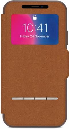 Чехол-книжка Moshi SenseCover для iPhone X коричневый 99MO072731 рюкзак mxm 8437 2015