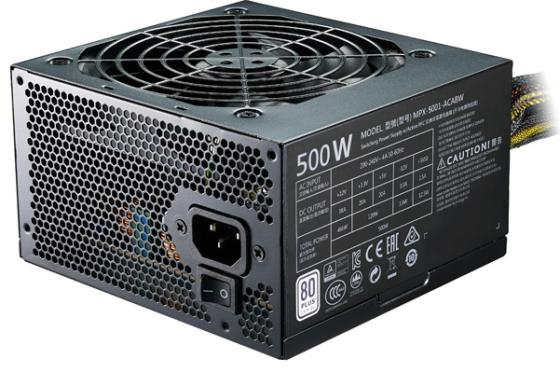 Блок питания ATX 500 Вт Cooler Master MasterWatt Lite 500 MPX-5001-ACABW-ES блок питания accord atx 1000w gold acc 1000w 80g 80 gold 24 8 4 4pin apfc 140mm fan 7xsata rtl