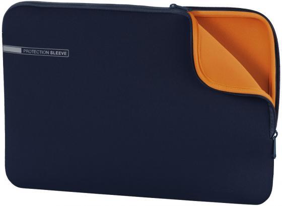 Чехол для ноутбука 13.3 HAMA 00101553 неопрен синий оранжевый чехол для ноутбука 15 6 hama slide ткань черный 00101733