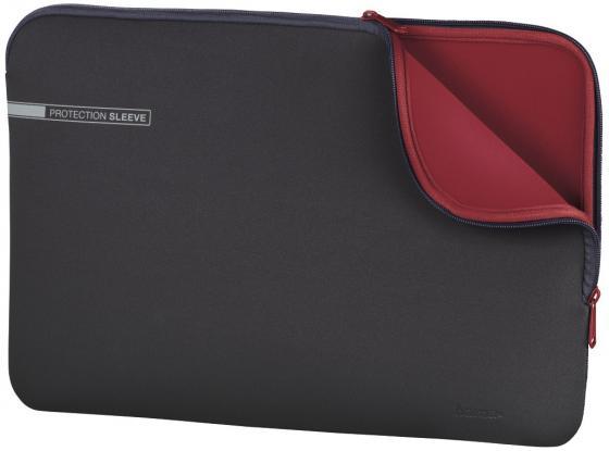 """лучшая цена Чехол для ноутбука 15.6"""" HAMA 00101550 неопрен серый красный"""