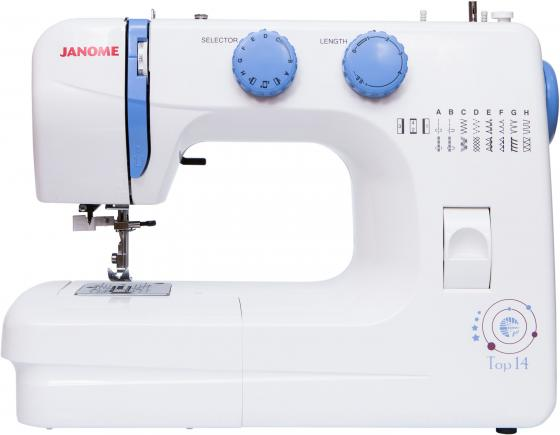 Швейная машинка Janome Top 14 белый швейная машинка janome sew mini deluxe