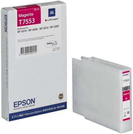 Картридж Epson C13T755340 для Epson WF-8090/8590 пурпурный картридж epson c13t754140 для epson wf 8090 epson wf 8590 черный