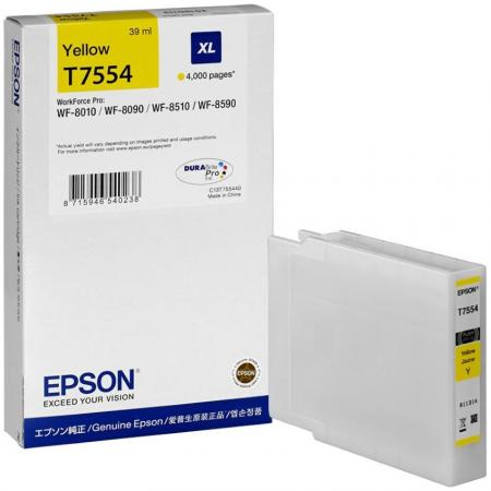 Картридж Epson C13T755440 для Epson WF-8090/8590 желтый