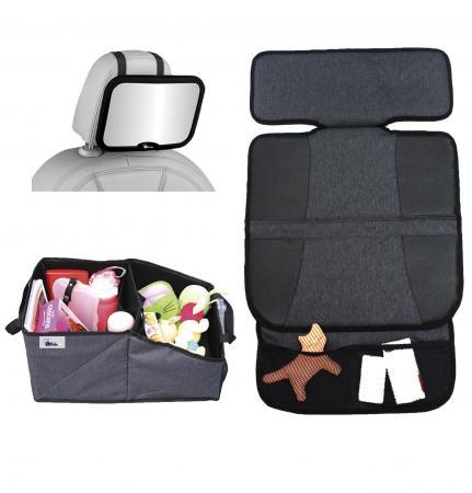 Набор для поездок Altabebe AL1969 (зеркало на спинку/защитный коврик на сиденья/органайзер для автокресла) путешествие с ребенком топотушки органайзер на спинку сиденья