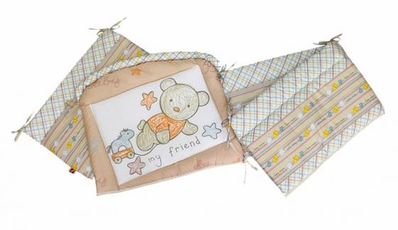 Бампер на кроватку Золотой Гусь Zoo Bear (бежевый) постельное бельё золотой гусь zoo bear бежевый
