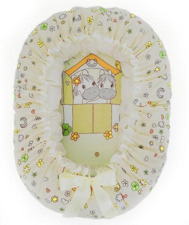 Подушка-валик-гнездо Золотой Гусь Лошадка (бежевый) комплект в кроватку золотой гусь мишка царь бежевый