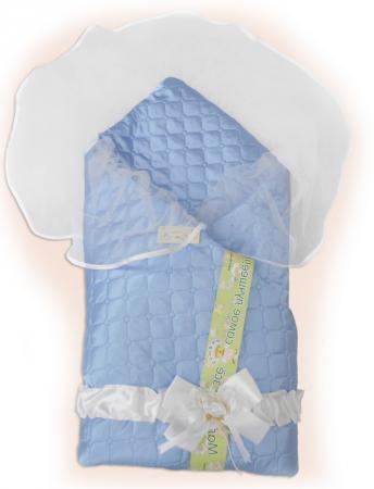 Одеяло на выписку Bombus Мила (голубой) карман на кроватку bombus светик желтый