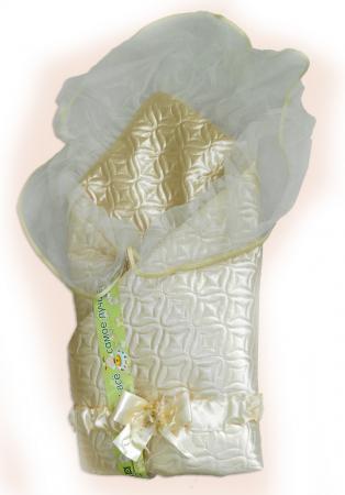 Одеяло на выписку Bombus Мила (зима/бежевый) карман на кроватку bombus светик розовый