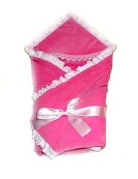 Одеяло на выписку Bombus Малютка (велюр/розовый) карман на кроватку bombus светик розовый