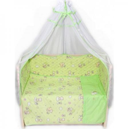 Постельный сет 6 предметов Bombus Универсальный (зеленый) карман на кроватку bombus светик зеленый